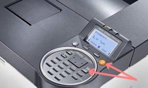 """Скидання повідомлення """"неоригинальном тонер-картридже"""" в апараті KYOCERA FS-2100DN"""