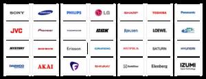 ремонт телевізорів бренди лого