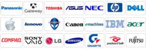 ремонт ноутбуків лого брендів